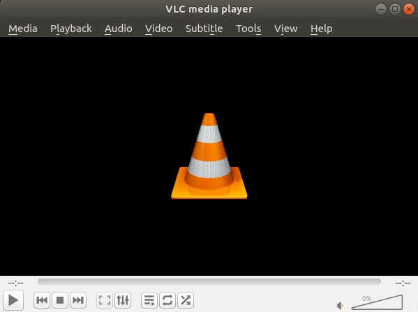 VLC running on Linux using snap