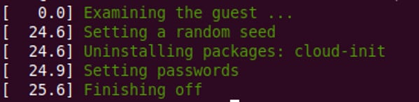 virt-customize reset password
