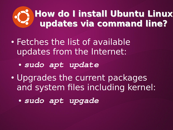 Ubuntu 18.04 update installed packages for security using apt
