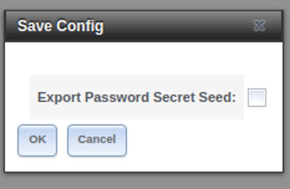 FreeNAS Export Password Secret Seed