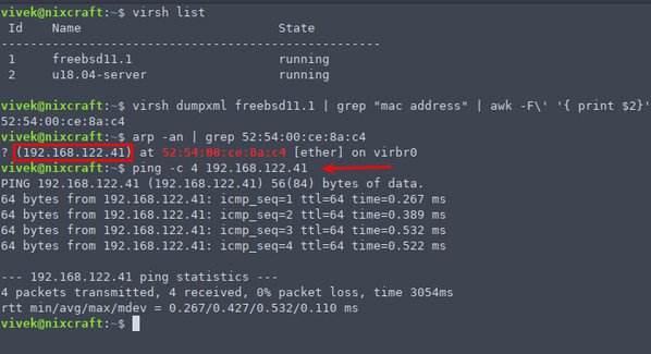 How to get server ip address in cmd