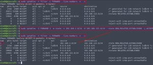 Linux Iptables insert rule at top of tables command