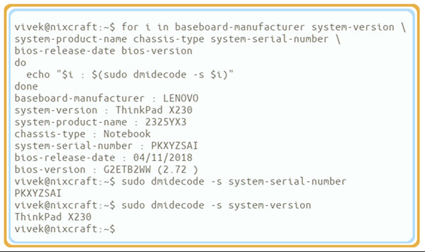 How to find serial number of Lenovo laptop from Linux - nixCraft