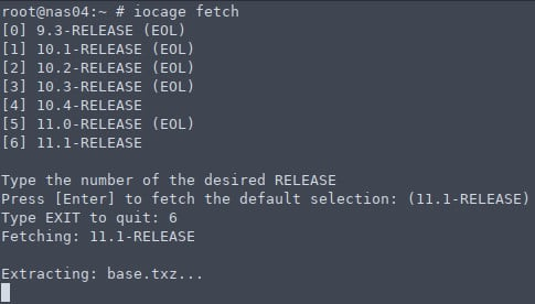 iocage fetch jail