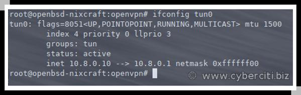 Running openvpn on OpenBSD