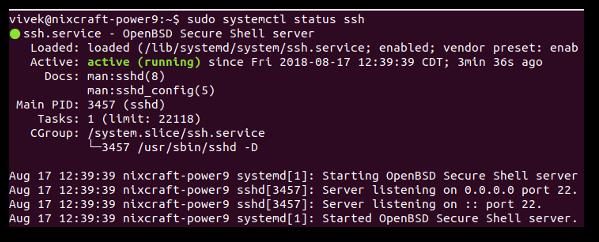 Ubuntu Linux install OpenSSH server - nixCraft