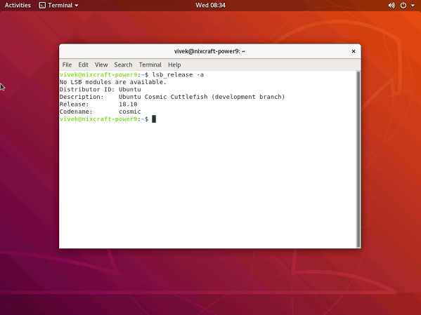 Running gnome desktop on my server