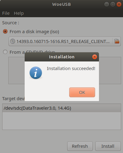 Create a Bootable Windows 10 USB in Linux With Ubuntu/Debian GUI