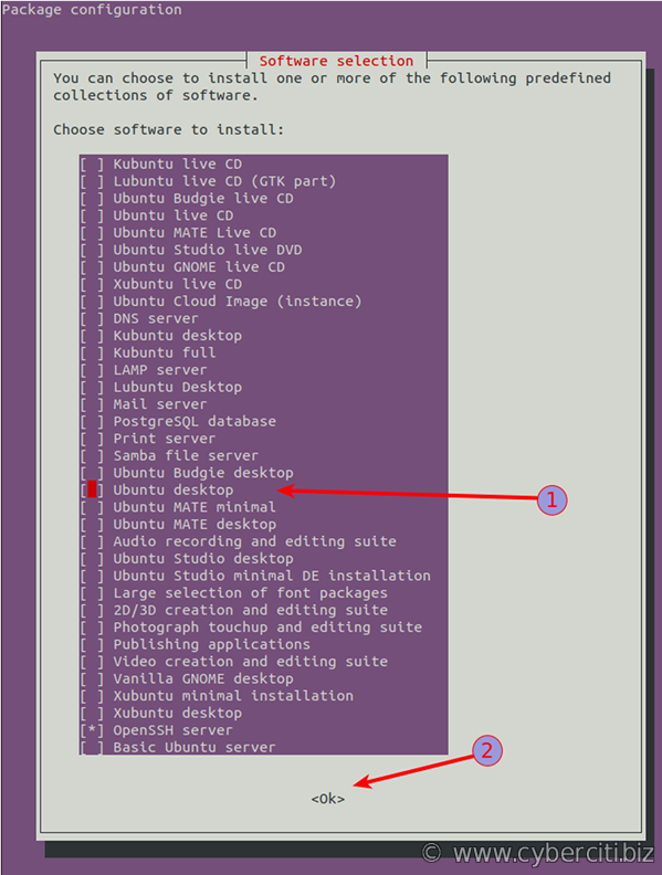 Ubuntu Linux install Gnome desktop on server using tasksel