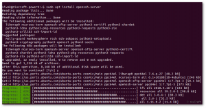 Ubuntu Linux install OpenSSH server