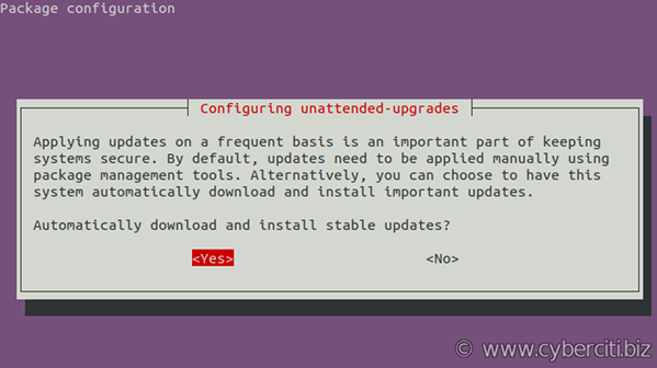 Ubuntu enable automatic updates
