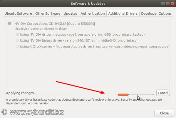 Installing Nvdia drivers on Ubuntu Linux