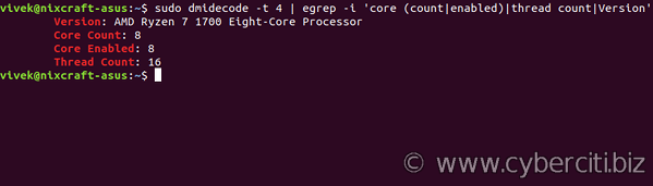 Check how many CPUs are there in Linux system - nixCraft
