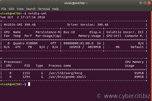NVIDIA System Management Interface program on Ubuntu