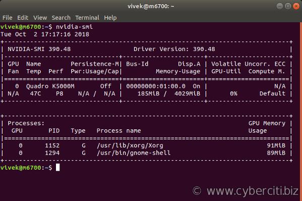 Ubuntu Linux Install Nvidia Driver (Latest Proprietary