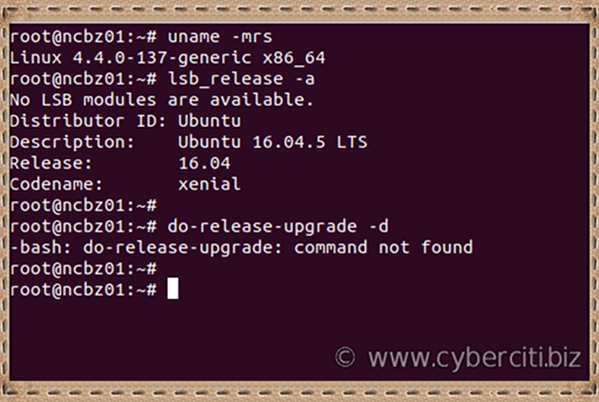 Ubuntu -bash: do-release-upgrade: command not found