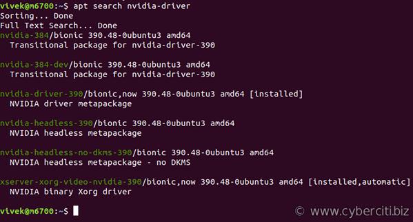 Ubuntu Linux Install Nvidia Driver (Latest Proprietary Driver