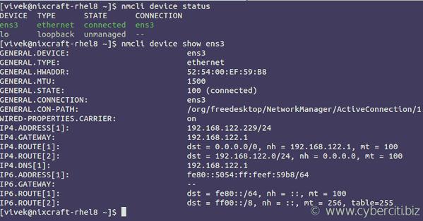 How to configure a static IP address on RHEL 8 - nixCraft