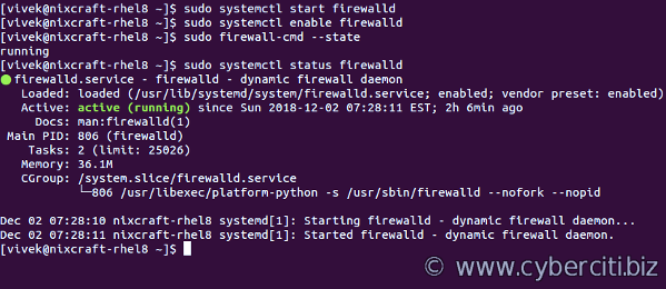 Installing and Managing FirewallD on RHEL 8