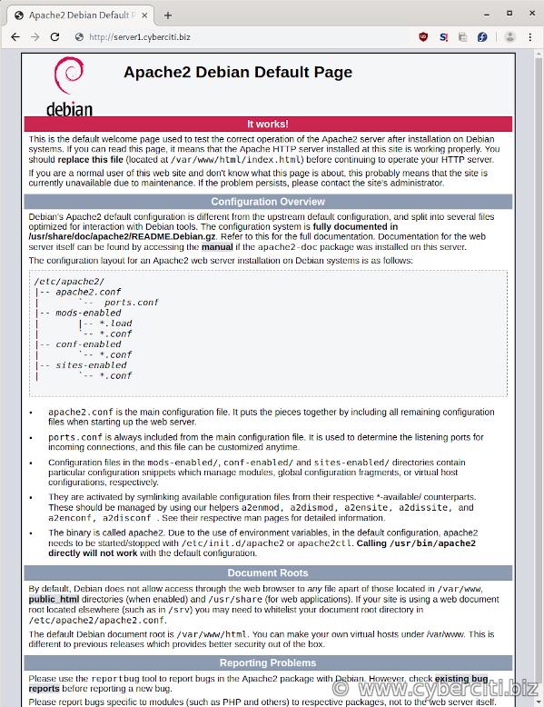 Apache 2 Debian Default Page