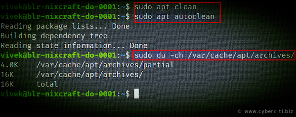 delete /var/cache/apt/archives to clean up apt cache on Debian or Ubuntu Linux.png