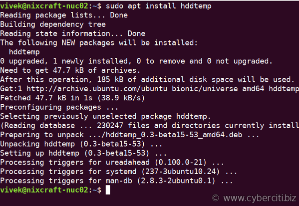 How to install hddtemp on Ubuntu Linux