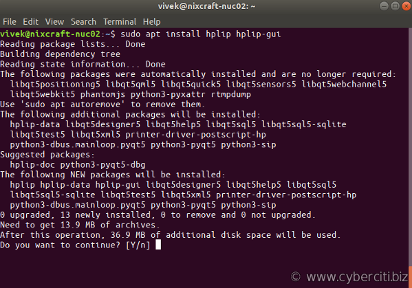 Install networked HP printer and scanner on Ubuntu Linux