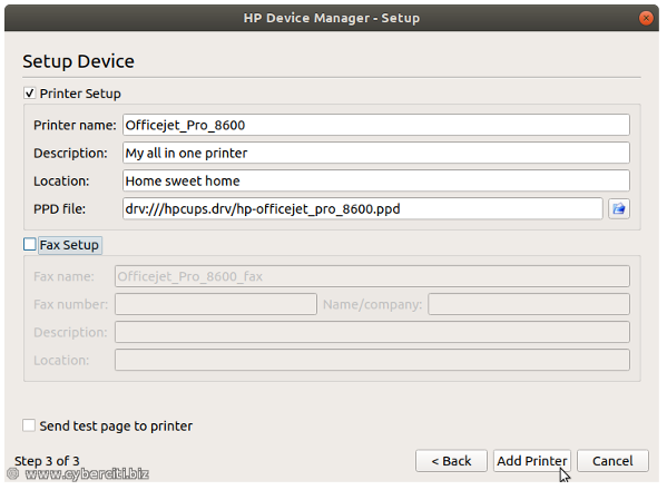 Ubuntu Linux HP Device Manager