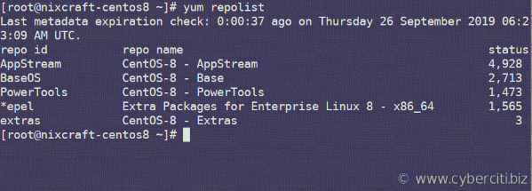 Enable and Install EPEL Repo with verification on CentOS Linux 8