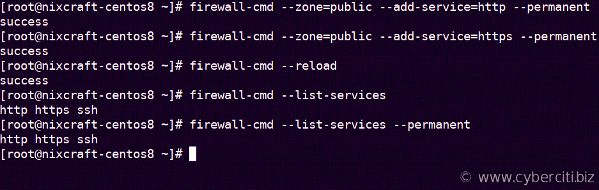 Firewalld runtime vs permanent rule set examples