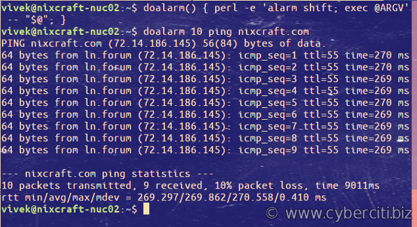 Linux run a command with a time limit using Perl