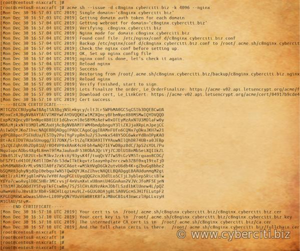 CentOS 8 Obtain Let's Encrypt certificate for domain