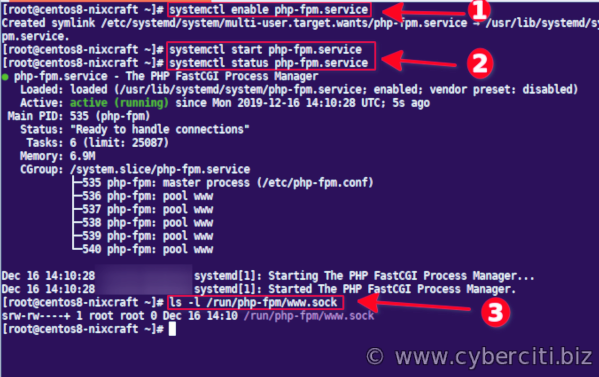 Configuring PHP to work with Nginx on CentOS Linux 8
