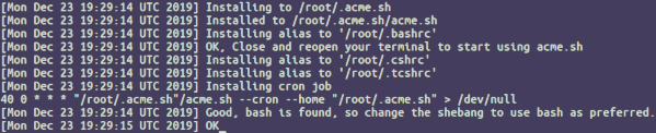 Install acme.sh client on CentOS 8