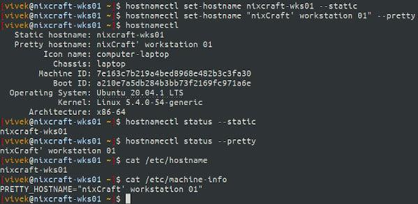 How to Change Hostname on Ubuntu 20.04 LTS Linux