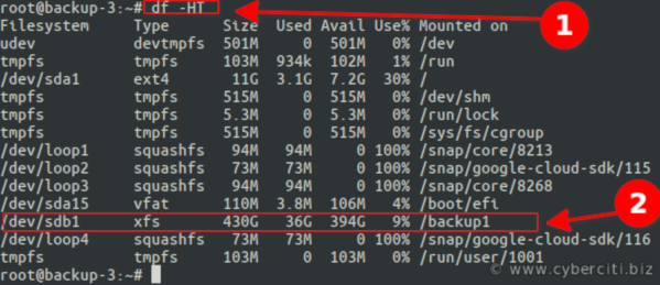 Linux resizing your persistent disk in cloud server