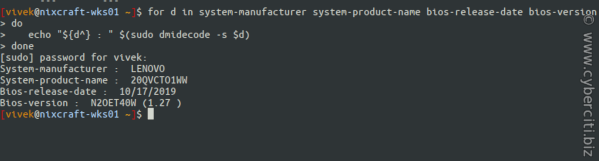 Thinkpad BIOS version