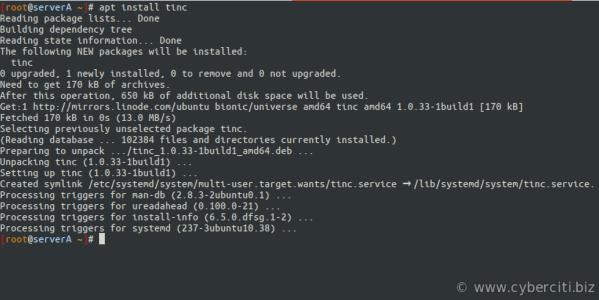 Ubuntu Install Tinc using apt-get command