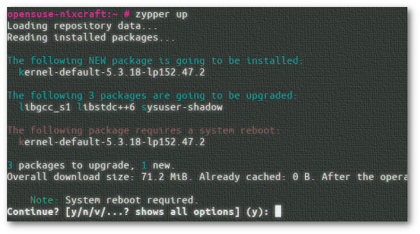 Zypper Ansible Kernel Reboot