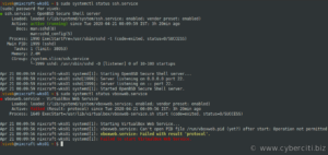 Find systemctl service status command
