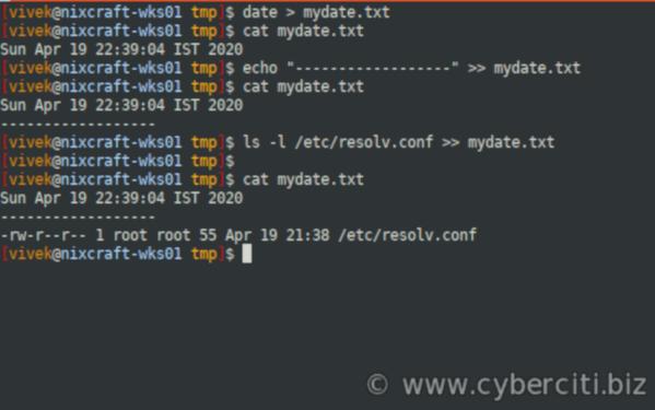 How do I save terminal output to a file