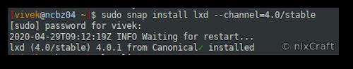 Setting up LXD on Ubuntu 20.04 LTS
