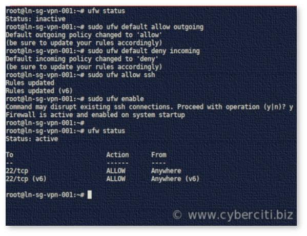 Ubuntu Configure Firewall with UFW