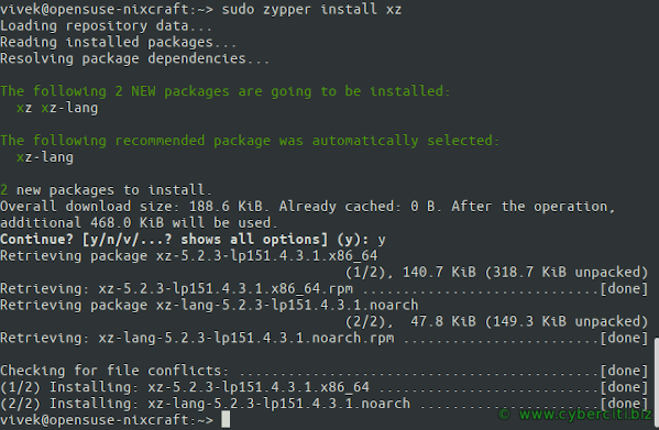 Extracting or Uncompressing tar.xz Files in Linux by installing xz