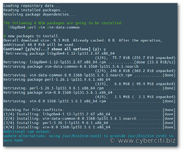 How to install vim on OpenSUSE or SUSE Linux server and desktop