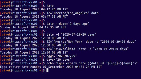 How to add days to date and get new date on Linux