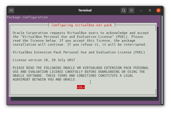 Oracle VirtualBox License