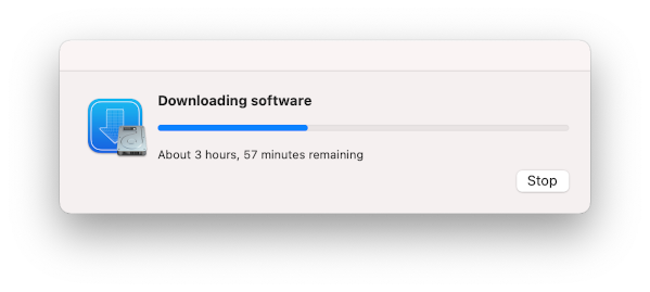 Xcode downlading please wait on macOS