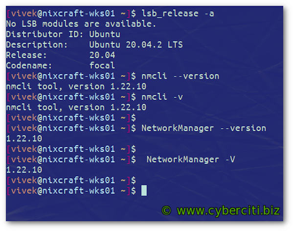 How to find NetworkManager version on Linux