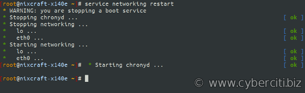 How to restart networking services on Alpine Linux